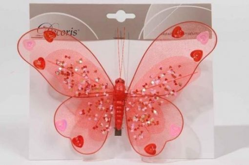 butterfly-organza-on-clip-red
