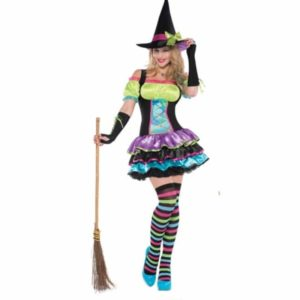 Halloweendräkt Pop Neon Witch M