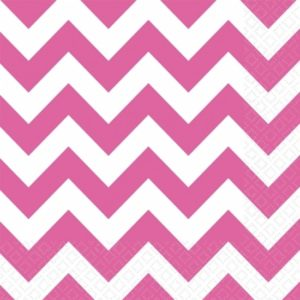 Servett-chevron-bright-Pink
