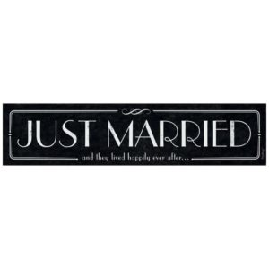 Bilskylt-Just-Married-Black