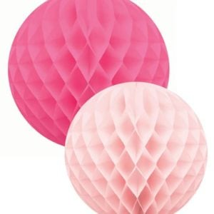 honeycombs bollar cerise-rosa set