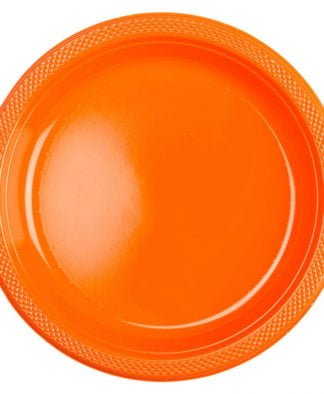Plasttallrik Buffé Orange