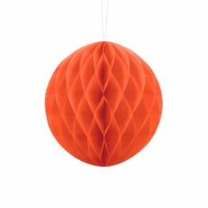 Honeycomb boll orange 20 cm