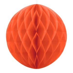 Honeycomb boll orange 40 cm