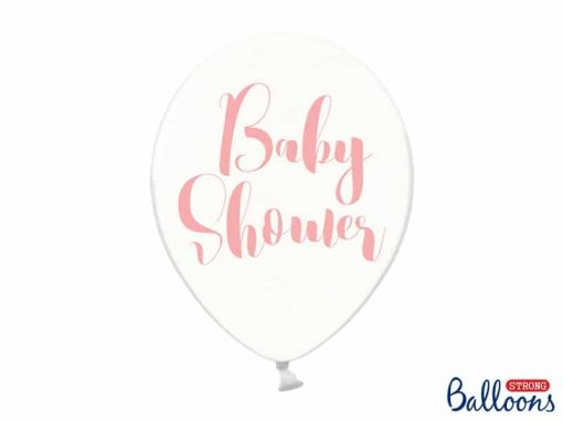 Ballong Baby Shower rosa crystal clea