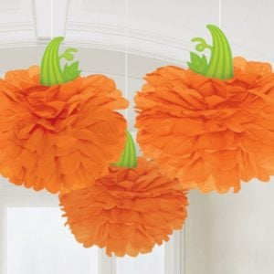 pom pom pumpor orange