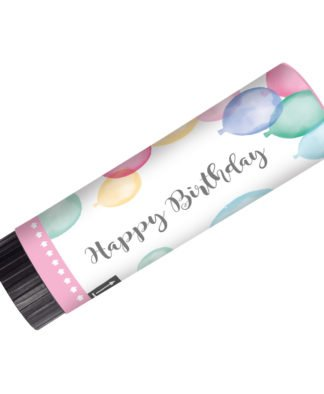 Party Popper Happy Birthday Pastel