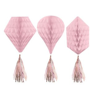honeycombs rosa med tassel