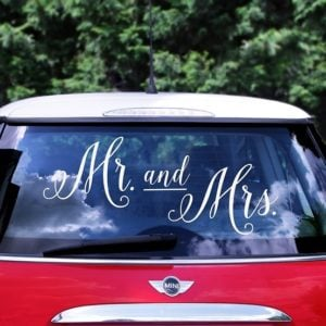 Bilskylt Brollop -Mr and Mrs-