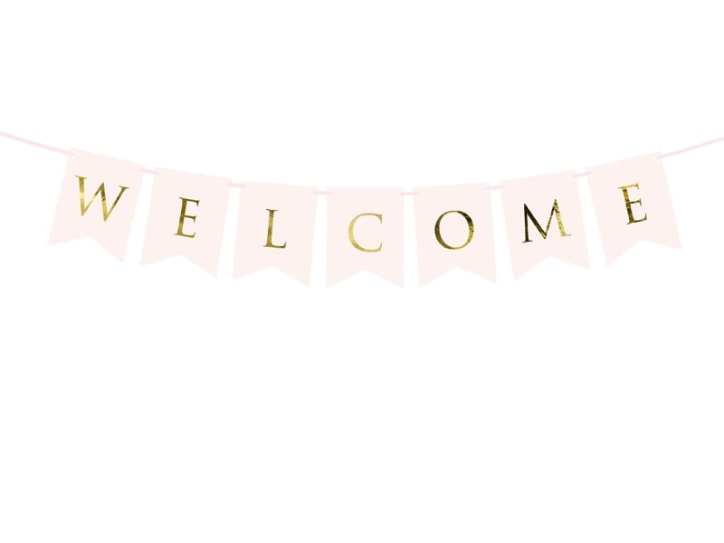 Banner Rosa Guld -Welcome