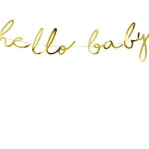 Banner Hello Baby Gold
