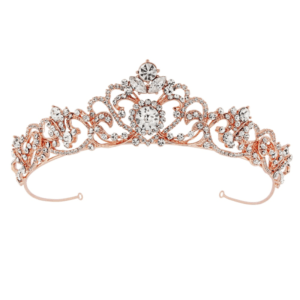 Tiara- Davina -Rose gold - Celebrations.se