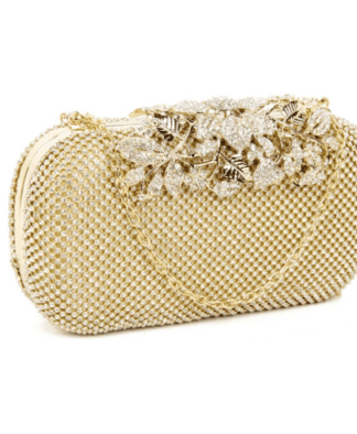 Clutch Väska Vintage crystal gold